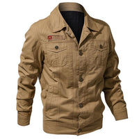 West Louis™ Autumn Army Jackets Khaki / XL - West Louis
