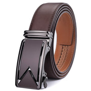West Louis™ Cowhide Leather Luxury Automatic Buckle Belt