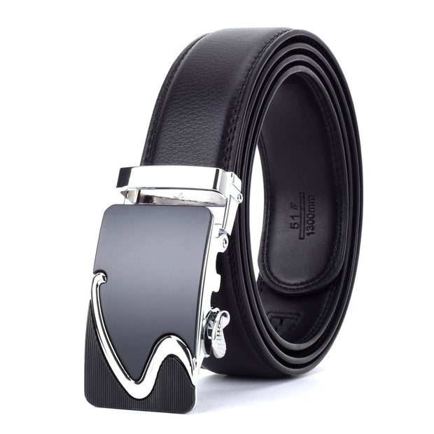 West Louis™ Designer Buckle Leather Belt