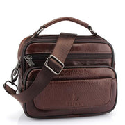 West Louis™ Genuine Cowhide Leather Shoulder Bag Brown3 - West Louis
