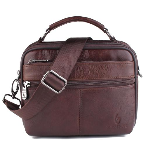 West Louis™ Genuine Cowhide Leather Shoulder Bag Brown4 - West Louis