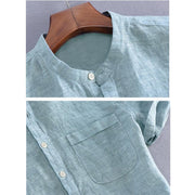 West Louis™ Short Sleeve Henley Collar Shirts  - West Louis