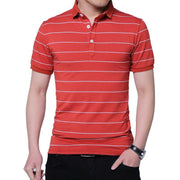 West Louis™ Brand Summer Stripped Polo Shirt  - West Louis