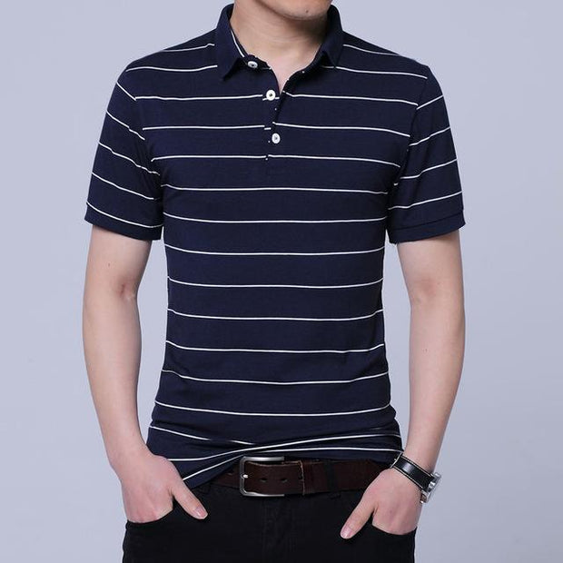 West Louis™ Brand Summer Stripped Polo Shirt Blue / M - West Louis