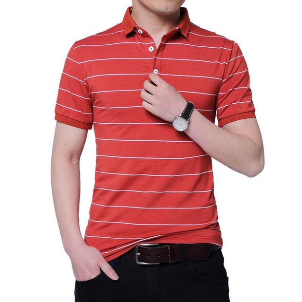 West Louis™ Brand Summer Stripped Polo Shirt Red / M - West Louis