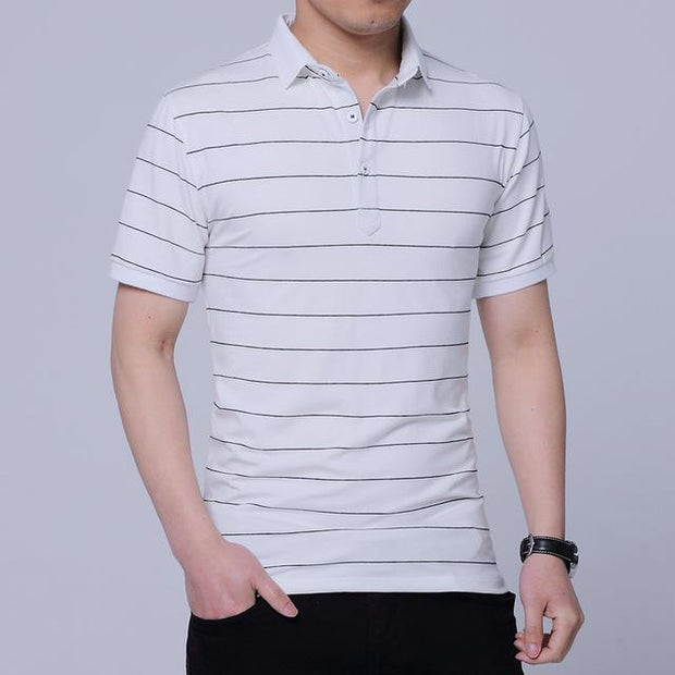 West Louis™ Brand Summer Stripped Polo Shirt White / M - West Louis