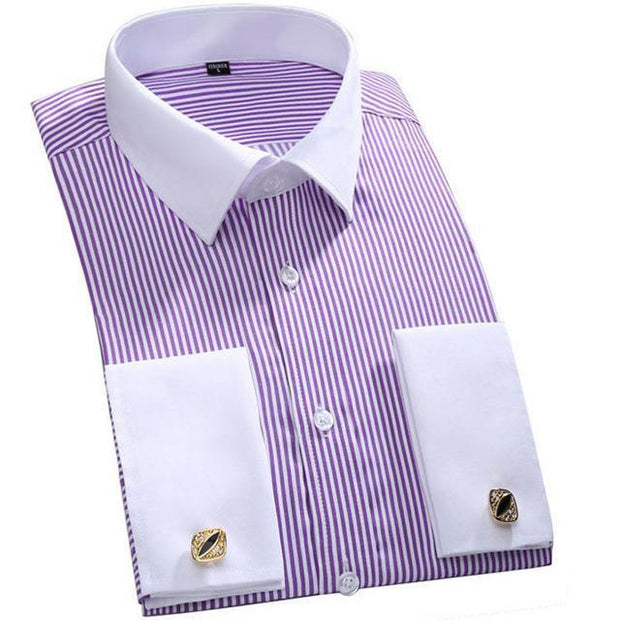 West Louis™ French Cufflinks Shirts Purple / S - West Louis