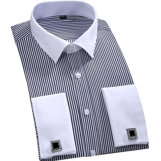 West Louis™ French Cufflinks Shirts Gray / S - West Louis