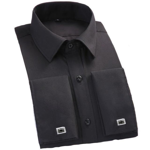 West Louis™ French Cufflinks Shirts Black / S - West Louis