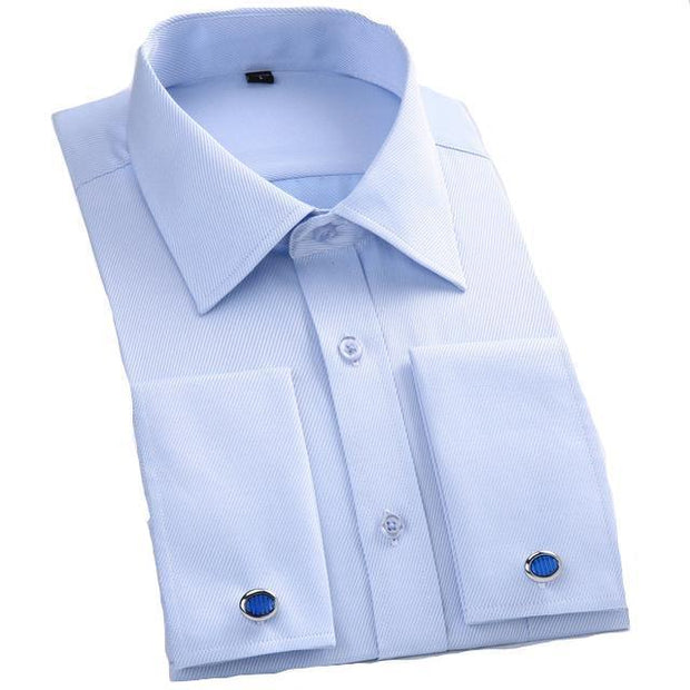 West Louis™ French Cufflinks Shirts Light Blue3 / S - West Louis