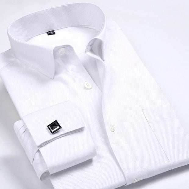 West Louis™ French Cufflinks Shirts White2 / S - West Louis