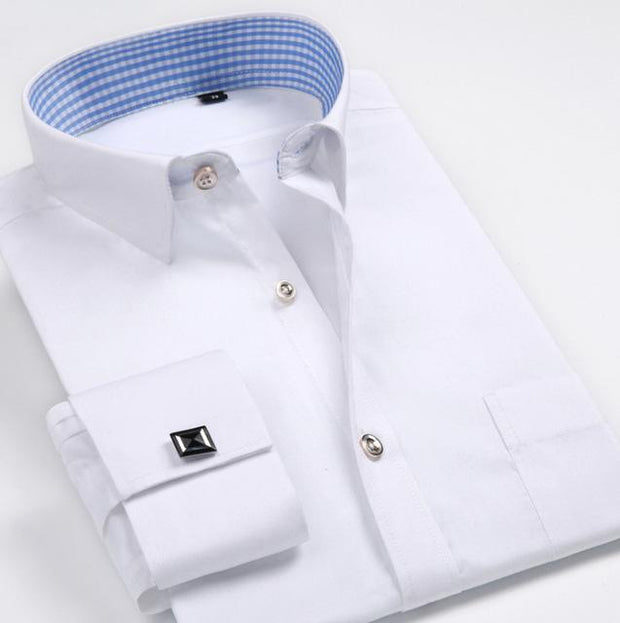 West Louis™ French Cufflinks Shirts White / S - West Louis