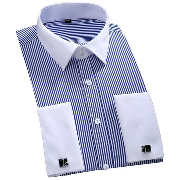 West Louis™ French Cufflinks Shirts Blue / S - West Louis