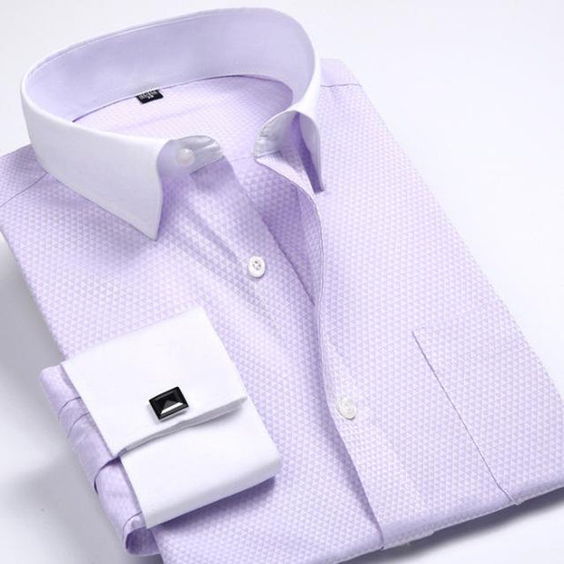 West Louis™ French Cufflinks Shirts Light Pink / S - West Louis