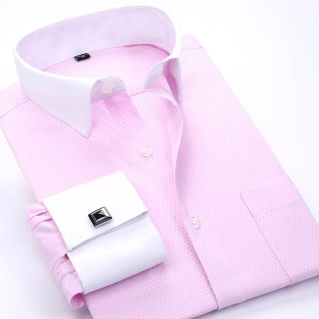 West Louis™ French Cufflinks Shirts Pink / S - West Louis