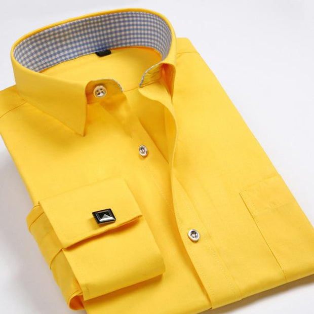West Louis™ French Cufflinks Shirts Yellow / S - West Louis