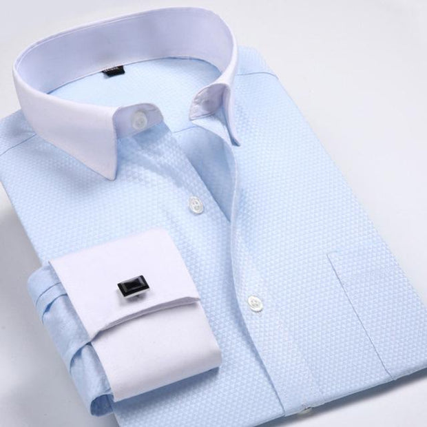 West Louis™ French Cufflinks Shirts Light Blue2 / S - West Louis