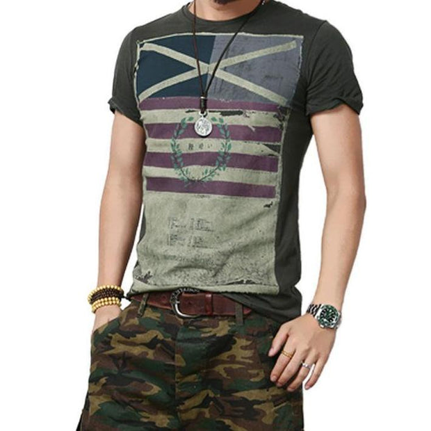 West Louis™ Fashion Round Neck T-Shirt Dark Gray / S - West Louis