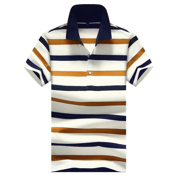 West Louis™ Slim Fit Homme  Polo Shirts Orange / M - West Louis