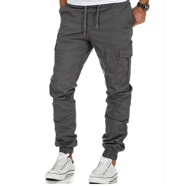 West Louis™ Multi-Pocket Cargo Trousers GRAY / M - West Louis