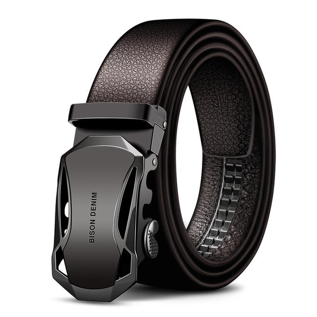 West Louis™ Automatic Buckle Genuine Leather Belt