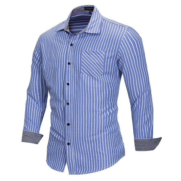 West Louis™ Striped Business Dress Shirt