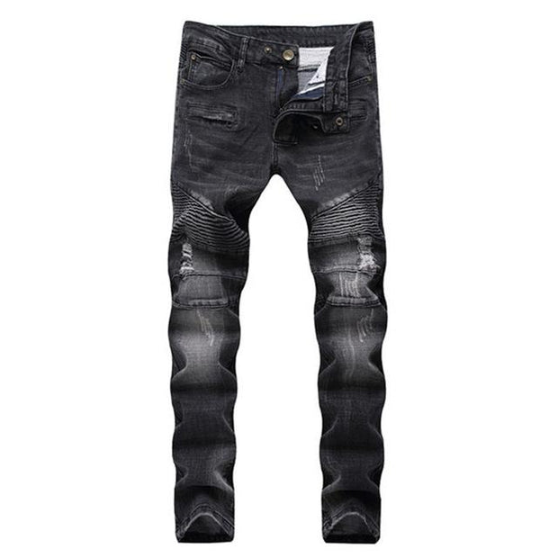West Louis™ Elasticity Washed Cotton Jeans Black / 30 - West Louis