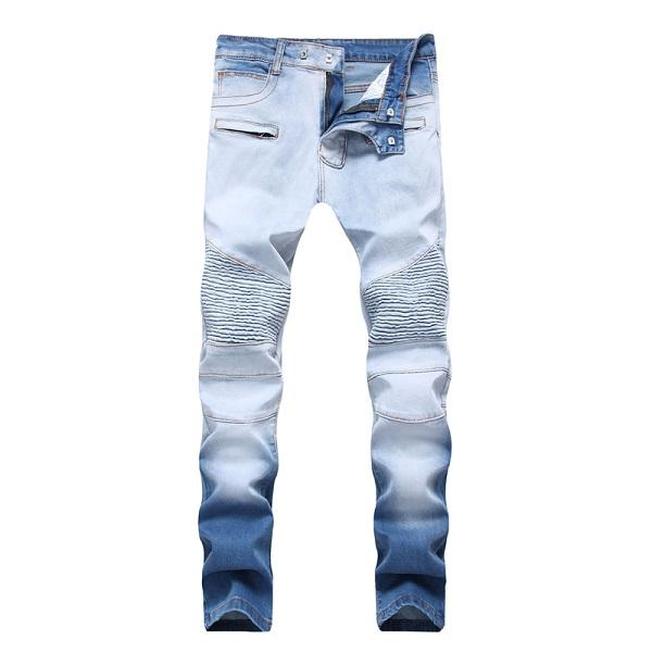 West Louis™ Elasticity Washed Cotton Jeans Blue / 28 - West Louis