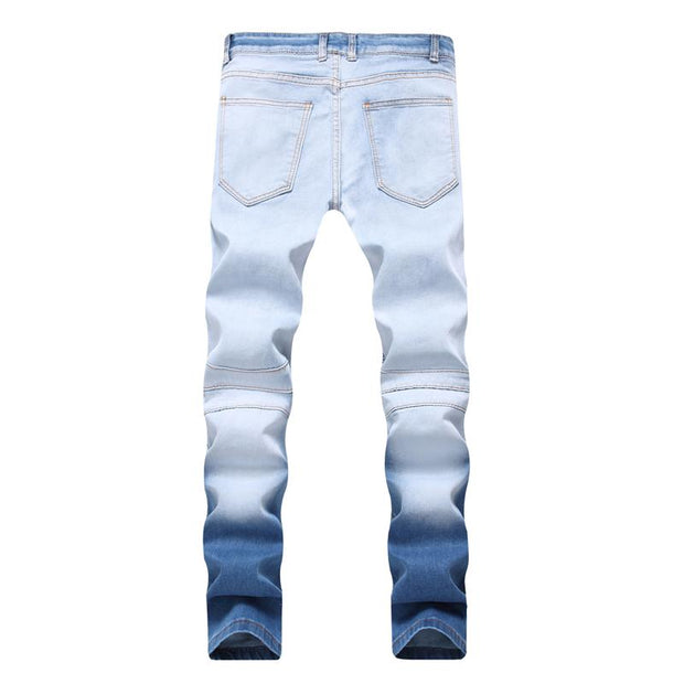 West Louis™ Elasticity Washed Cotton Jeans  - West Louis