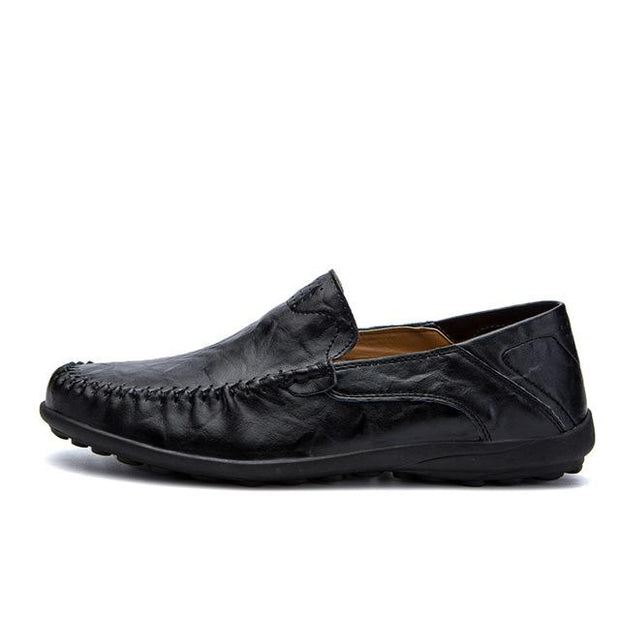 West Louis™ Genuine Leather Comfy Moccasins Black / 11 - West Louis