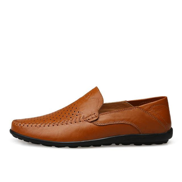 West Louis™ Genuine Leather Comfy Moccasins Brown2 / 11 - West Louis