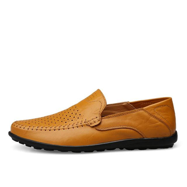 West Louis™ Genuine Leather Comfy Moccasins Yellow / 11 - West Louis
