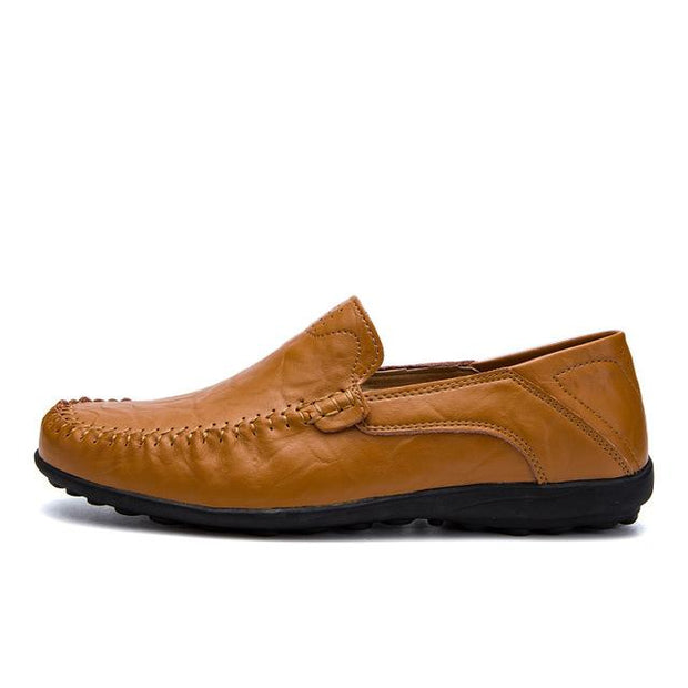 West Louis™ Genuine Leather Comfy Moccasins Yellow2 / 11 - West Louis