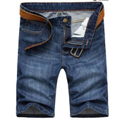 West Louis™ High Quality Cotton Slim Shorts Blue / 28 - West Louis