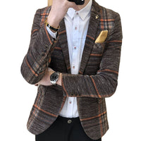 West Louis™ Designer Blazer Tweed Button