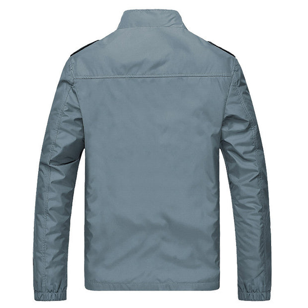 West Louis™ Solid Windproof Raincoat Jacket