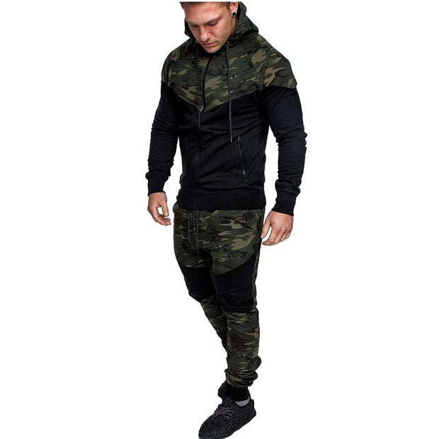 West Louis™ Camouflage Hoodie Suit Green / L - West Louis