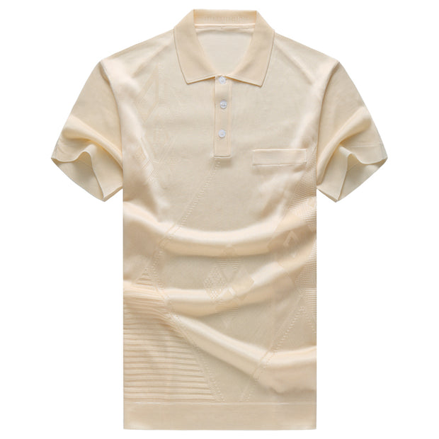 West Louis™ Men Natural Silk Polo Shirt