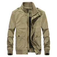 West Louis™ Multi-Pockets Stand Collar Military Jacket