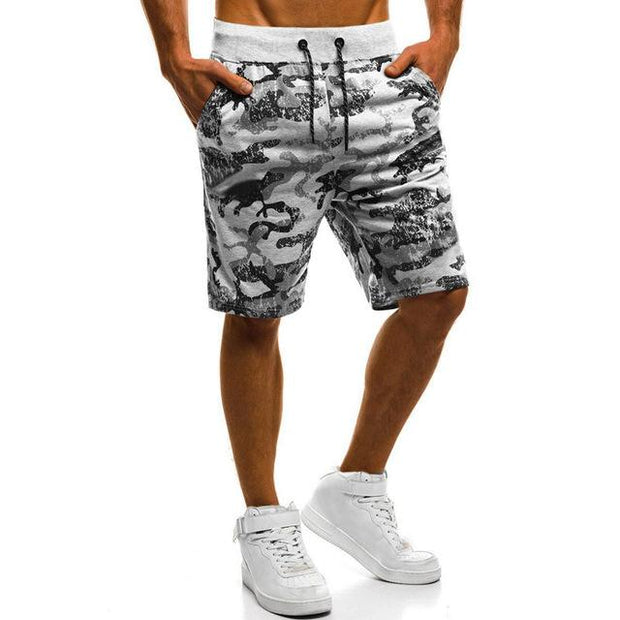 West Louis™ Drawstring Knee-Length Shorts Gray / S - West Louis