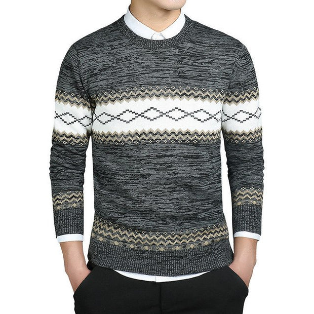 West Louis™ Diamond Wool Knitted Sweater
