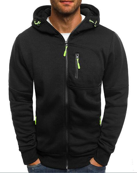 West Louis™ Drawstring Solid Hoodies Black / M - West Louis
