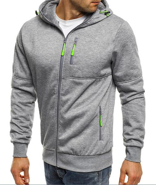West Louis™ Drawstring Solid Hoodies Gray / M - West Louis