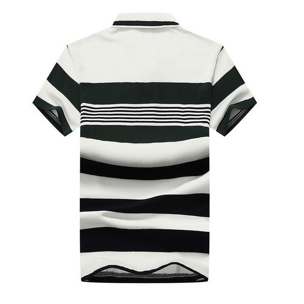West Louis™ Casual Striped Polo Shirts  - West Louis