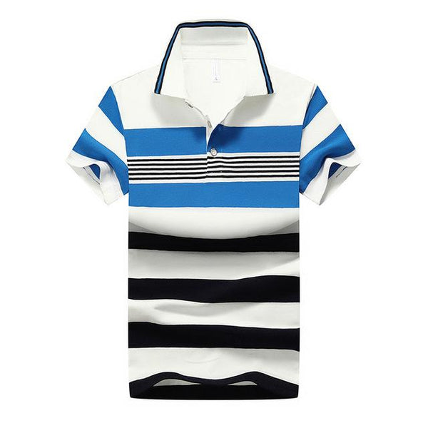 West Louis™ Casual Striped Polo Shirts Blue / M - West Louis
