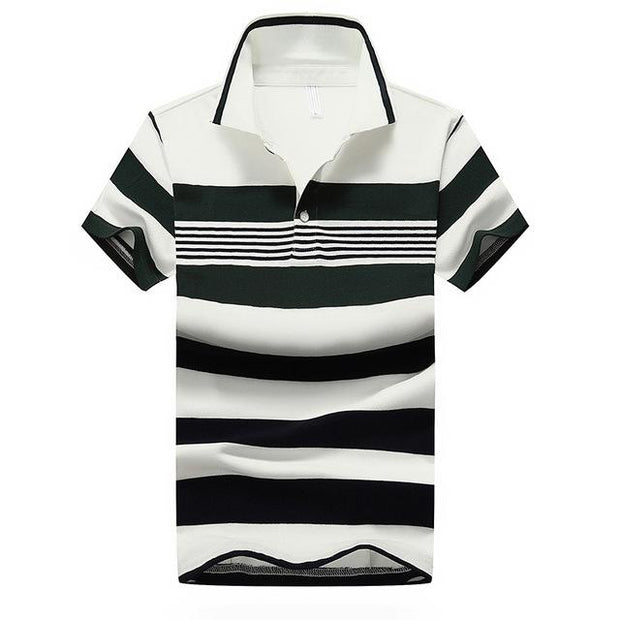 West Louis™ Casual Striped Polo Shirts Green / M - West Louis
