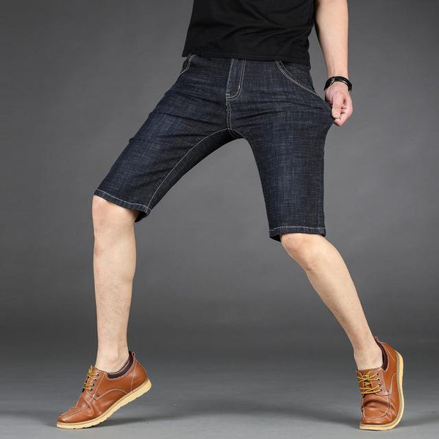 West Louis™ Cotton Stretch Jeans Short Black / 28 - West Louis