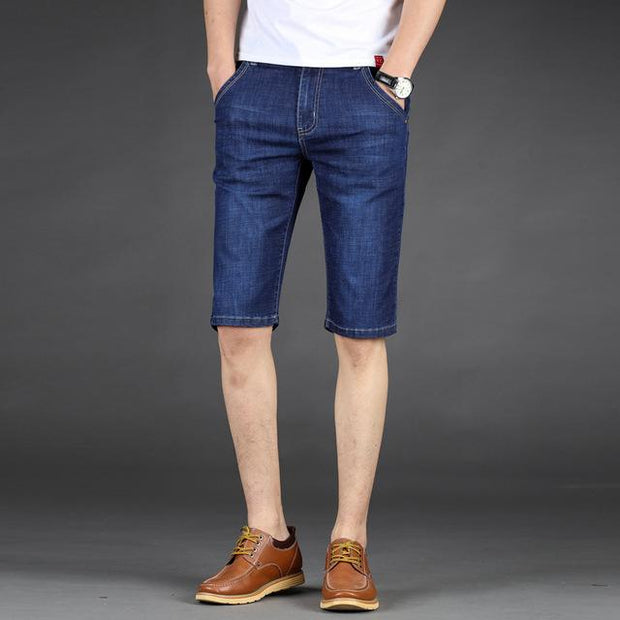West Louis™ Cotton Stretch Jeans Short Blue / 28 - West Louis