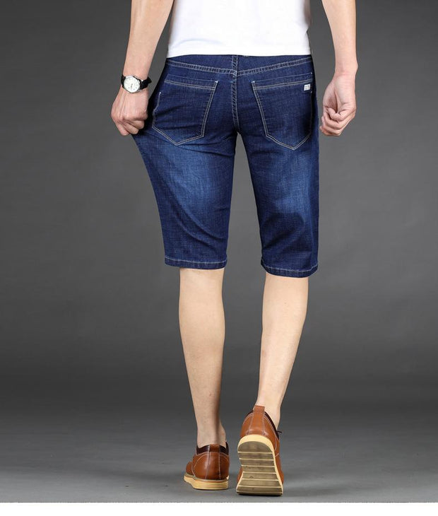 West Louis™ Cotton Stretch Jeans Short  - West Louis