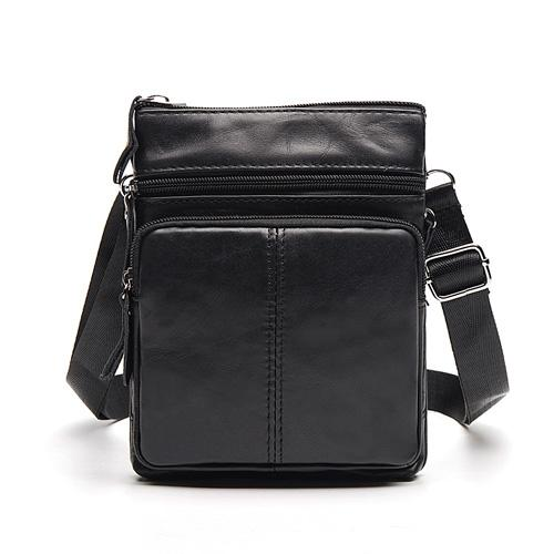 West Louis™ Crossbody Leather Shoulder Bag Black - West Louis